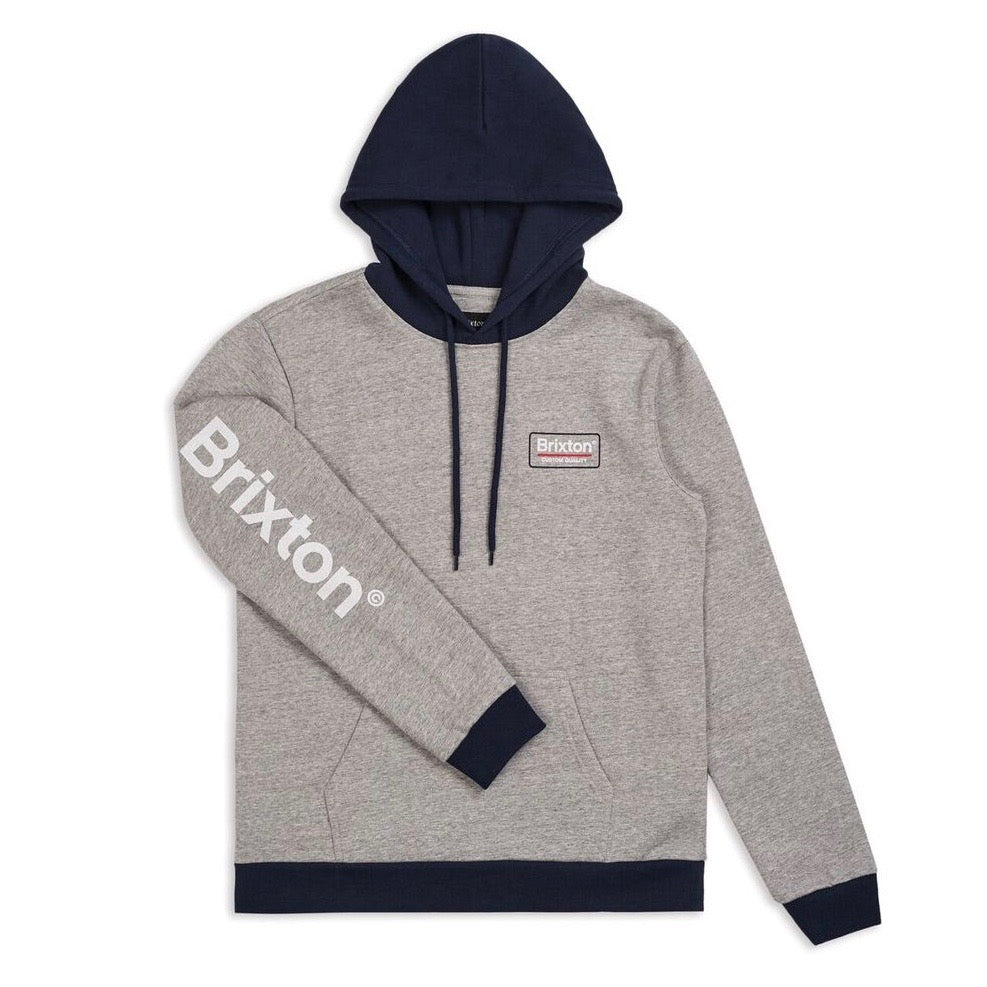 Brixton Palmer 2 Hooded Sweat - Heather Grey