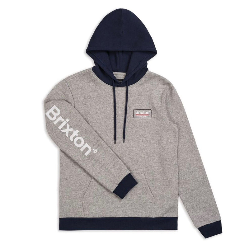 Brixton Palmer 2 Hooded Sweat - Heather Grey - Born Store