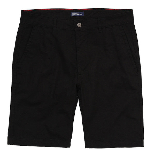 Asquith & Fox Chino Shorts - Black - Born Store