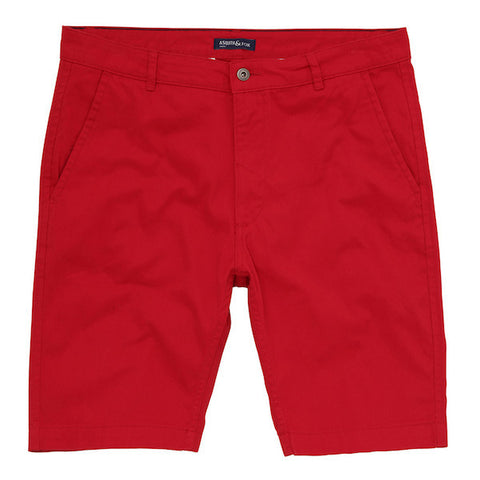 Asquith & Fox Chino Shorts - Red