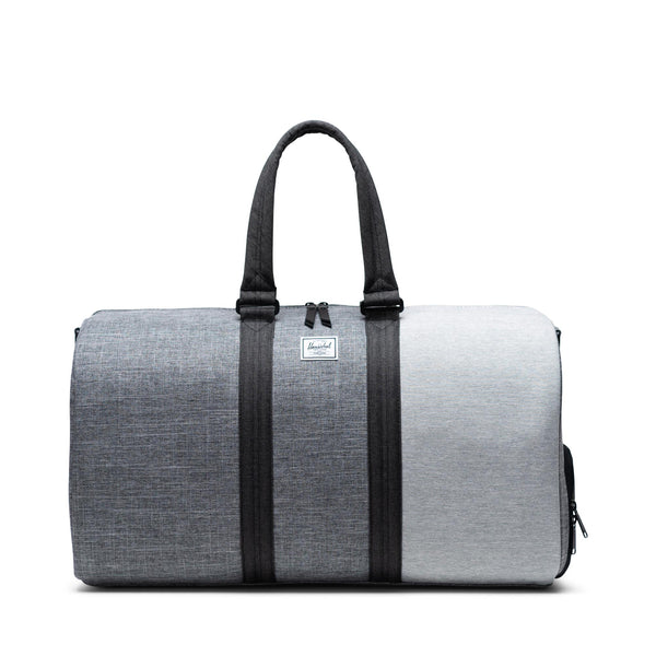 Herschel Novel Duffle - IRaven Crosshatch/Black Crosshatch/Lt Grey Crosshatch