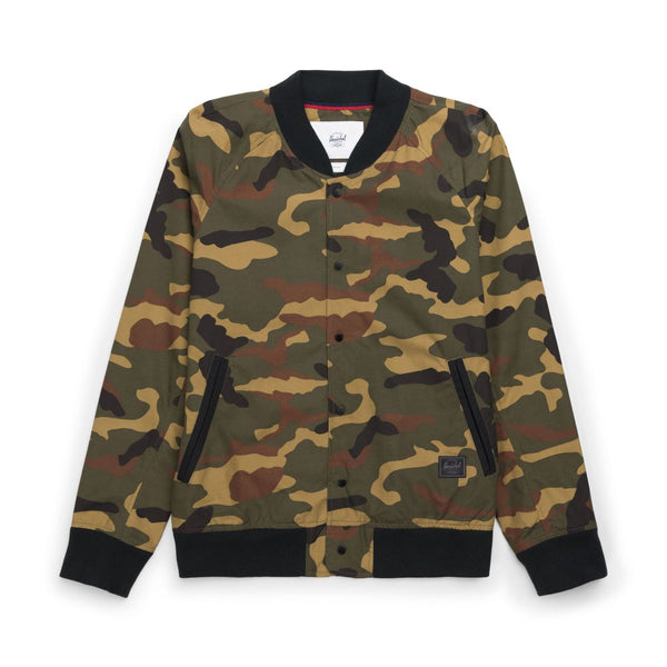 Herschel Supply Varsity Jacket - Woodland Camo - Born Store