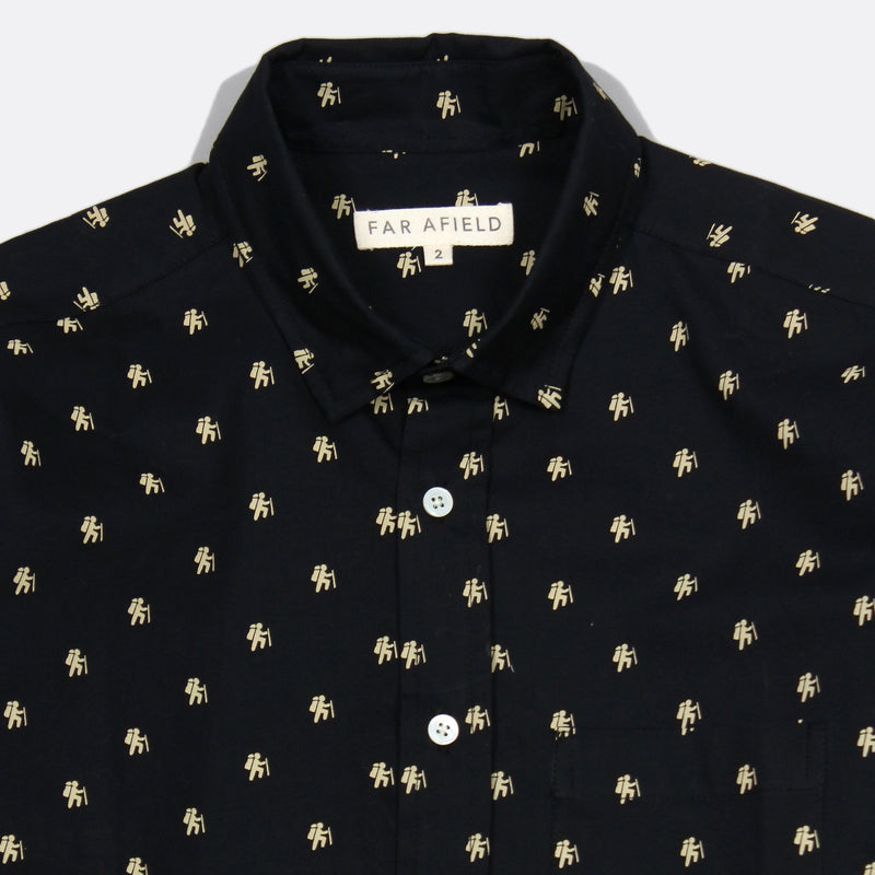 Far Afield Cognito L/S Shirt - Hiker Black - Born Store