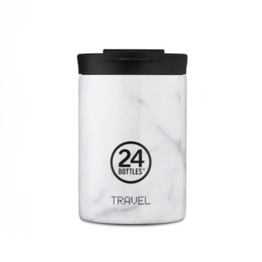 24 Bottles Travel Tumbler 350ml - Carrara - Born Store