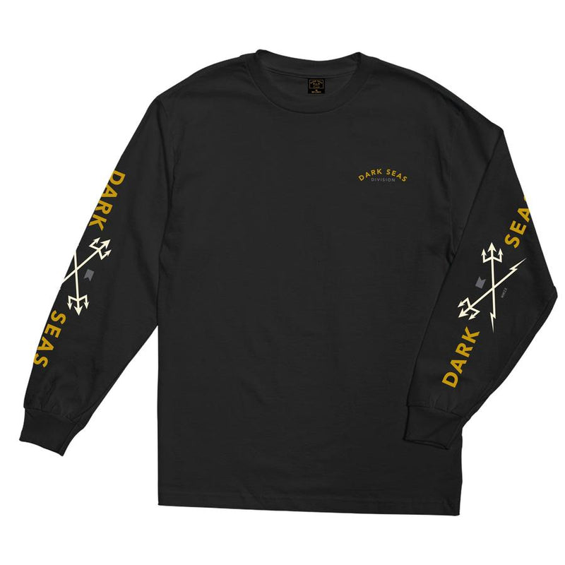 Dark Seas Headmaster L/S Tee Shirt - Black - Born Store