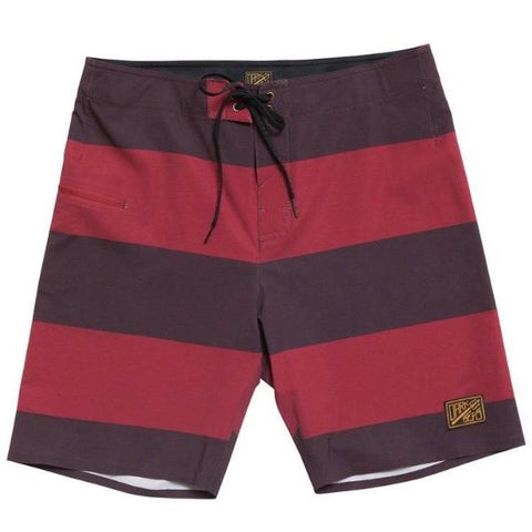 Dark Seas Blackwall Board Short - Brown/Red