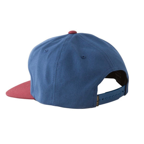 Dark Seas Journeyman Snapback Cap - Navy/Red
