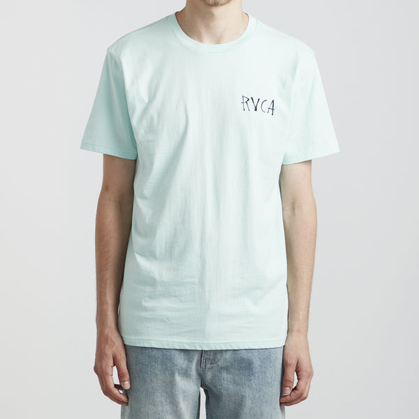RVCA Sea Song Tee Shirt - Dusty Aqua - Born Store