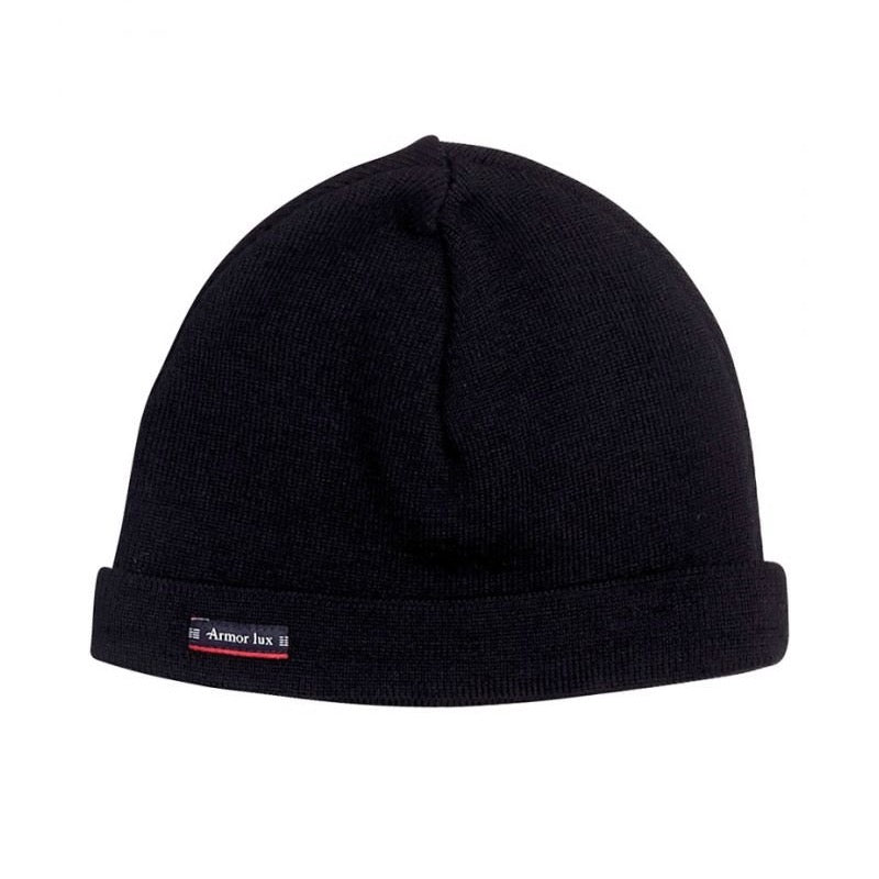 Armor Lux Fisherman Wool Beanie - Black - Born Store