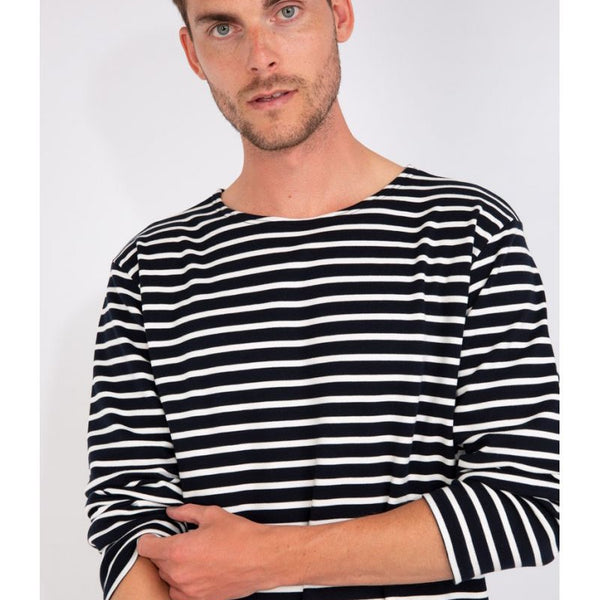 Armor Lux Breton Striped L/S Tee Shirt - Rich Navy/Milk - Born Store