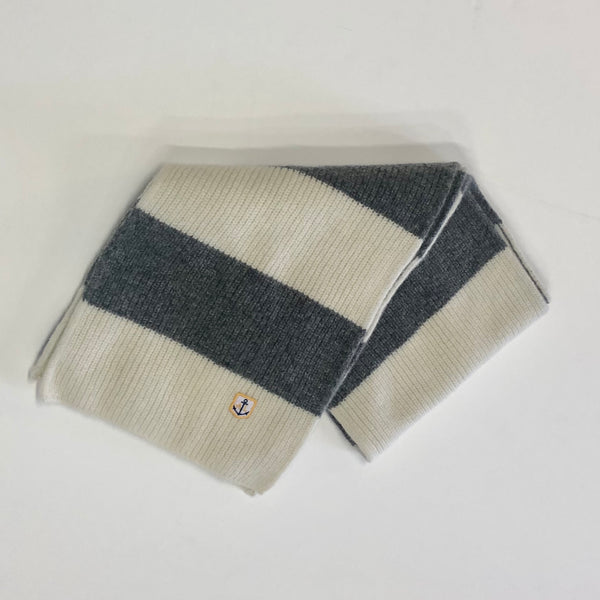 Armor Lux Lambswool Scarf - Slate Grey/Nature - Born Store