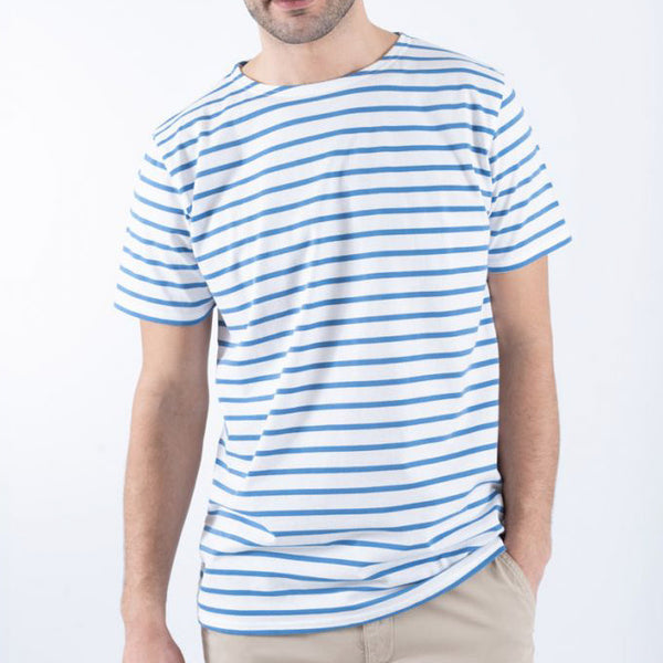 Armor Lux Big Sailor Tee Shirt - White/Blue