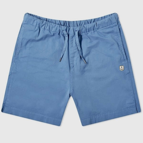 Armor Lux Heritage Cotton Shorts - Light Blue