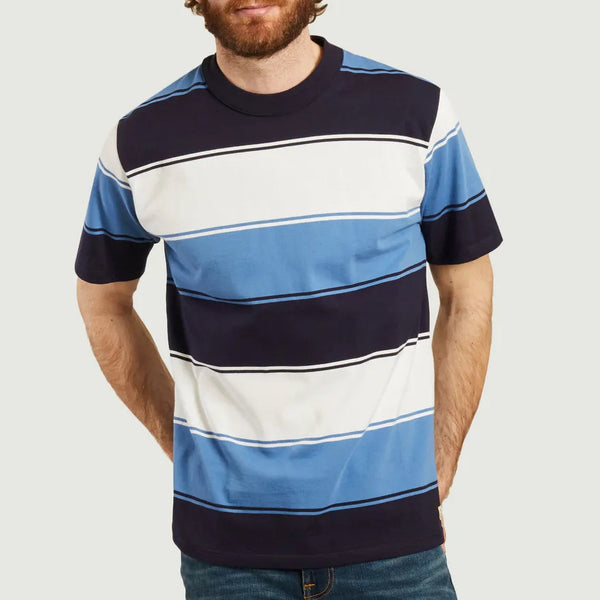 Armor Lux Bold Striped Tee Shirt - Navy/White/Ozero