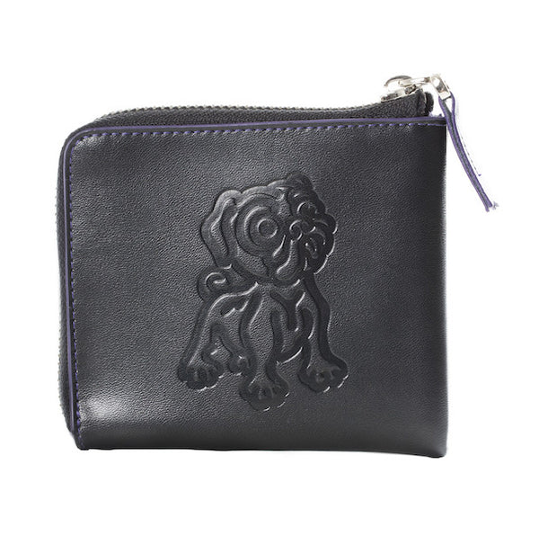 Black Pug Half Zip Wallet - Born Store