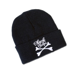 Black Pug Cross Bones Beanie - Born Store