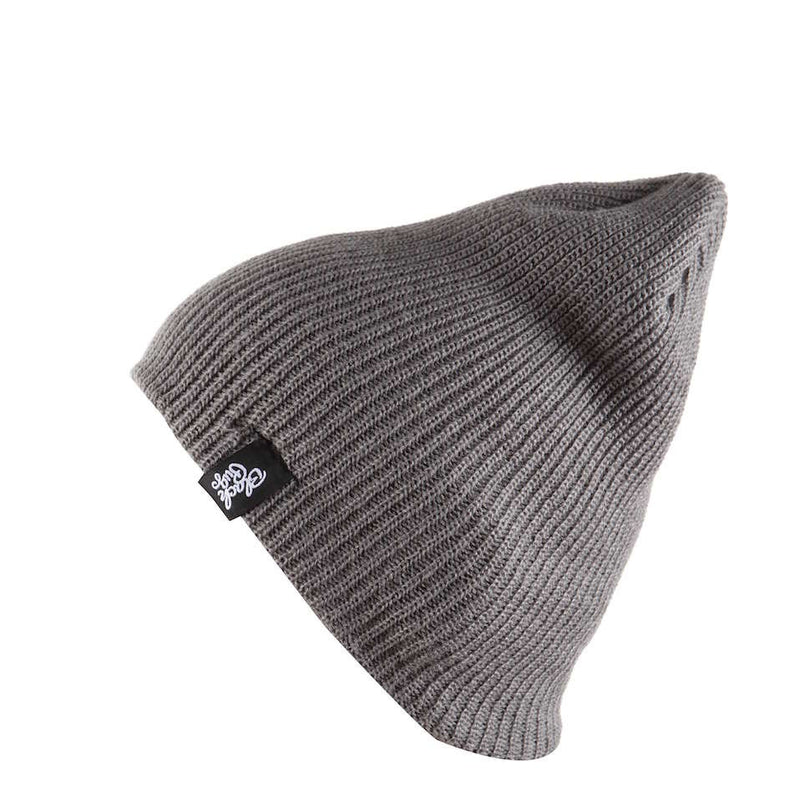 Black Pug Ribbed Beanie - Born Store
