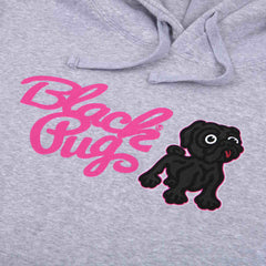 Black Pug Hooded Combo Sweat Grey