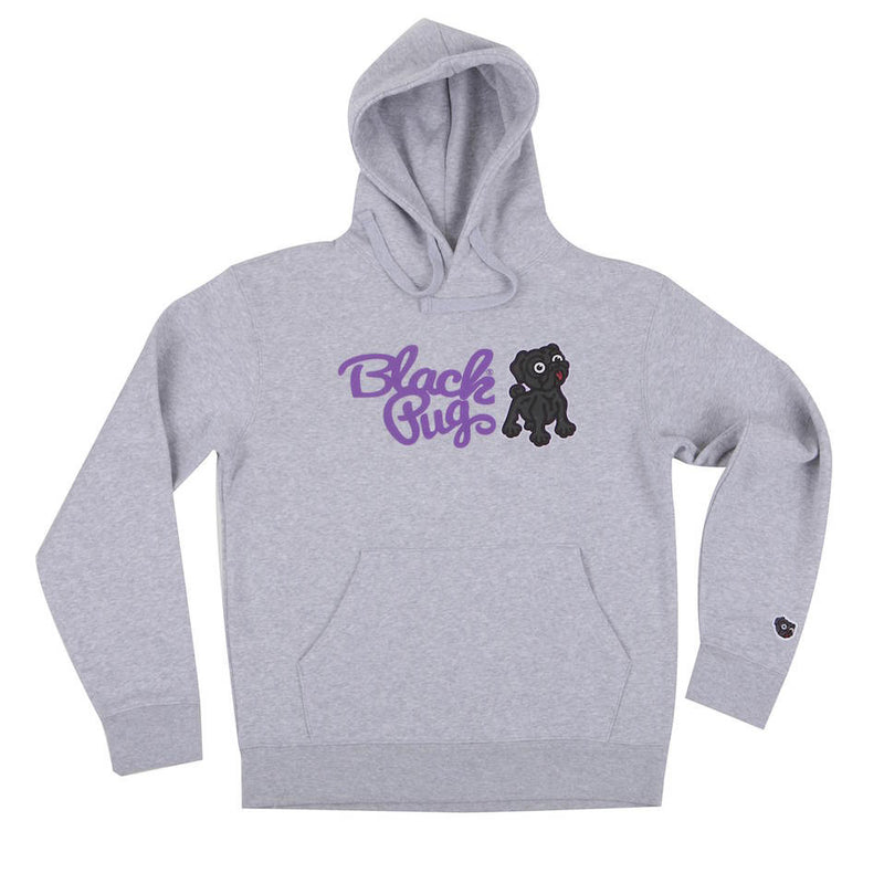 Black Pug Hooded Combo Sweat Grey - Born Store