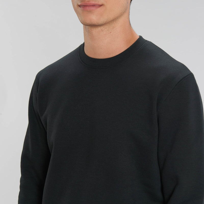 Born Essentials Organic Cotton Crew Sweat - Black - Born Store