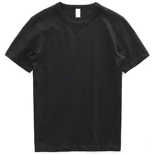 Born Heavy Weight Vintage Tee Shirt - Black