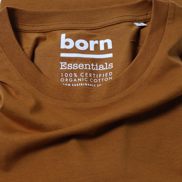 Born Essentials Organic Cotton Tee Shirt - Roasted Orange - Born Store