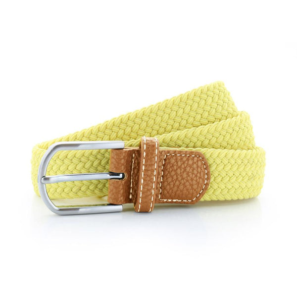 Born Braid Stretch Belts - Lemon - Born Store