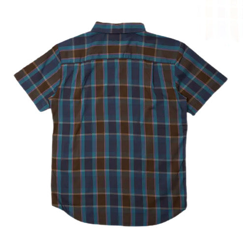 Brixton Charter Plaid S/S Shirt - Toffee