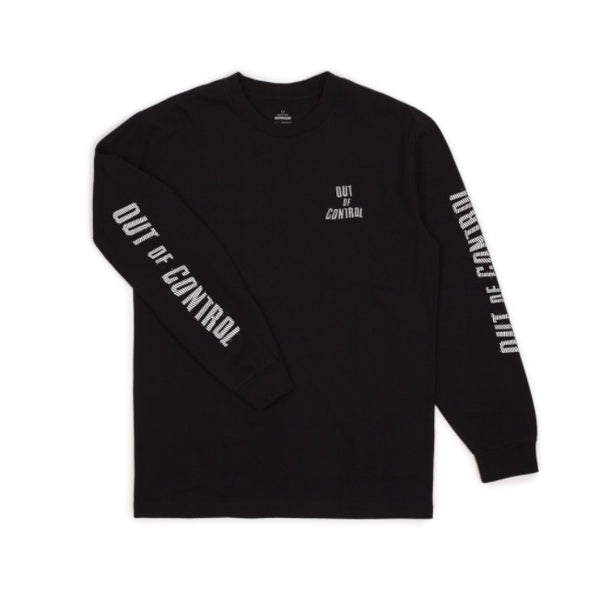 Brixton X Strummer Out Of control L/S Tee Shirt - Black - Born Store