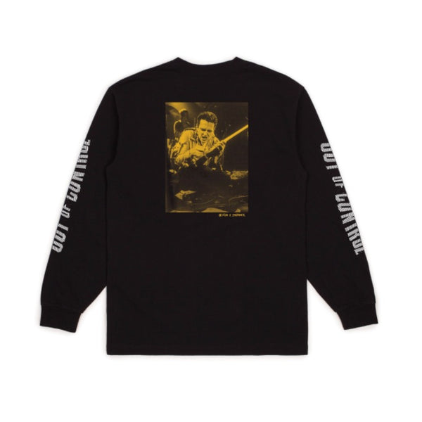 Brixton X Strummer Out Of control L/S Tee Shirt - Black