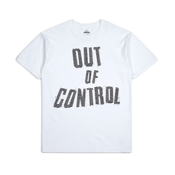 Brixton X Strummer Out Of Control S/S Tee Shirt - White - Born Store