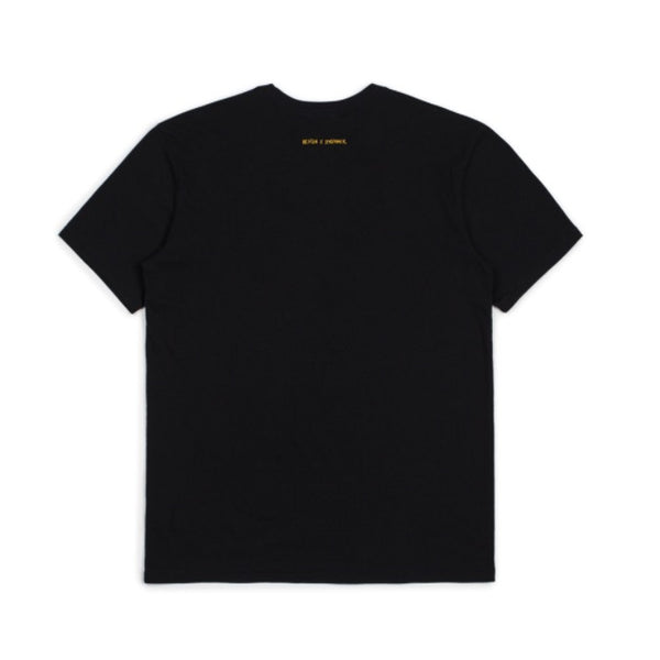 Brixton X Strummer Out Of Control S/S Tee Shirt - Black - Born Store
