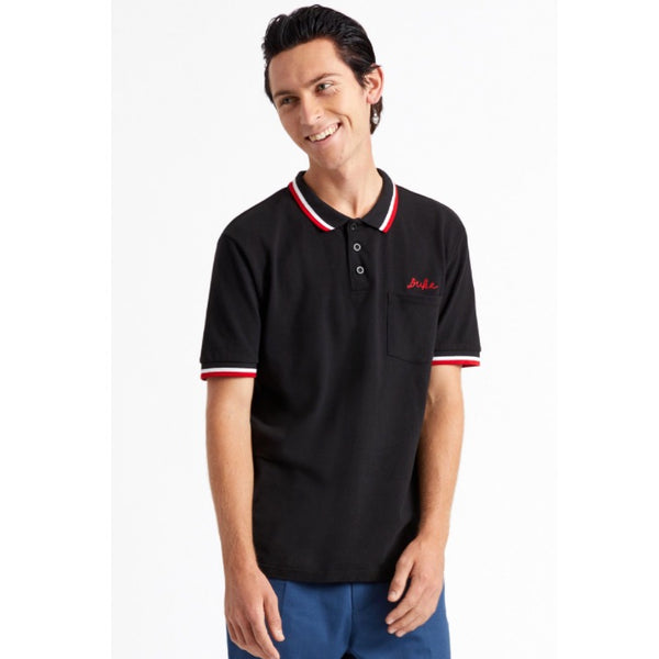 Brixton X Strummer Polo Shirt - Black