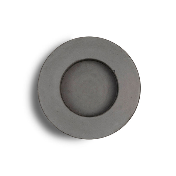 Concrete & Wax Mid Holder + Candle - Grey