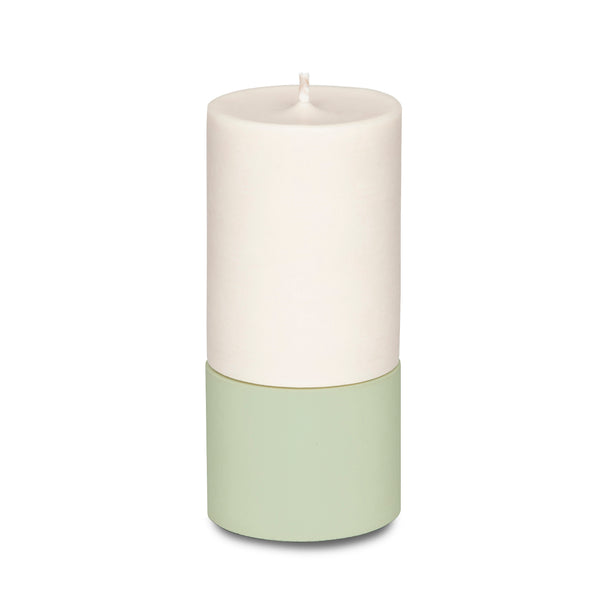 Concrete & Wax Mid Holder + Candle - Sage - Born Store