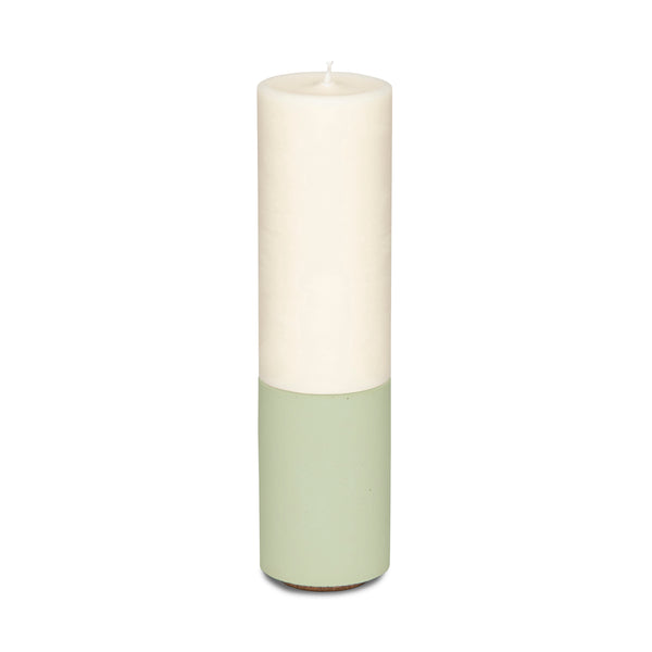Concrete & Wax Slim Holder + Candle - Sage