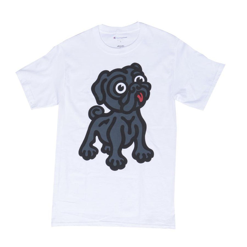 Black Pug x Champion Rocky Tee - White