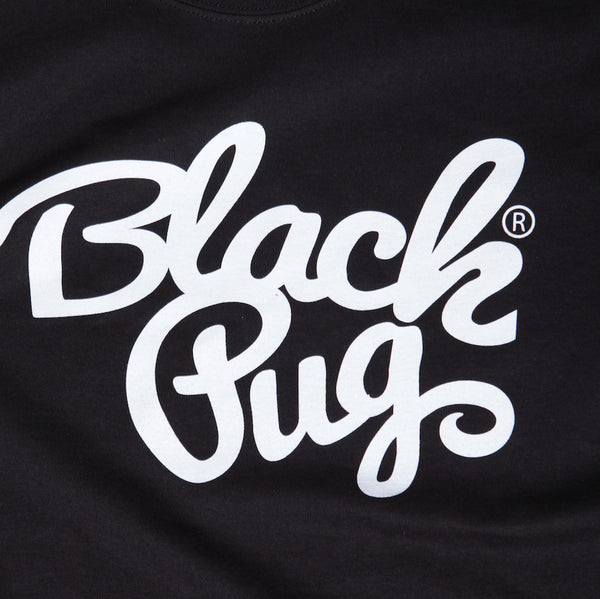 Black Pug x Champion Stock Logo Tee - Black - Born Store