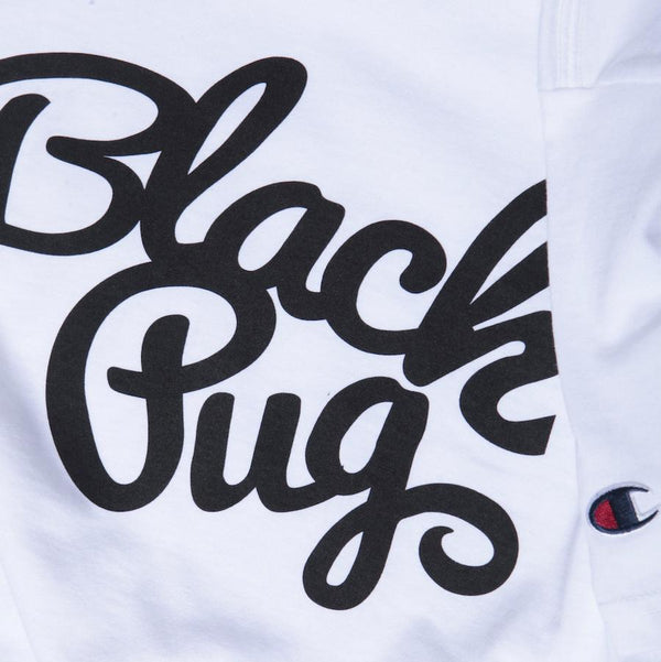 Black Pug x Champion Stock Logo Tee - White