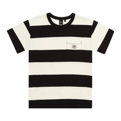 Deus Ex Machina Bonnieville Stripe Tee Shirt - Vintage White - Born Store