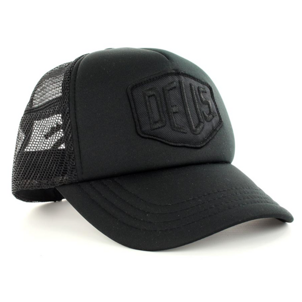 Deus Ex Machina Baylands Trucker Cap - Black/Black