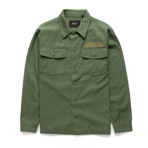 Deus Ex Machina Monty Overshirt - Clover Green - Born Store