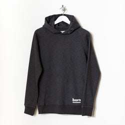 Born Essentials Organic Cotton Hooded Sweat - Dark Heather Grey - Born Store