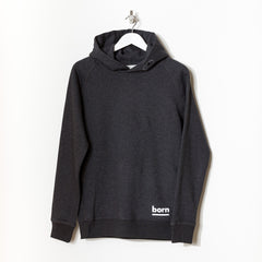 Born Essentials Organic Cotton Hooded Sweat - Dark Heather Grey