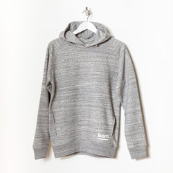 Born Essentials Organic Cotton Hooded Sweat - Slub Heather Grey - Born Store
