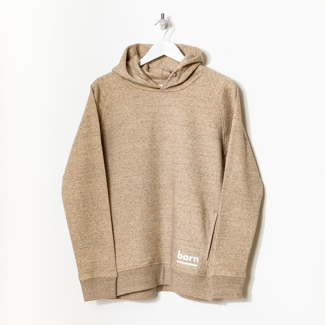 Born Essentials Organic Cotton Hooded Sweat - Heather Clay