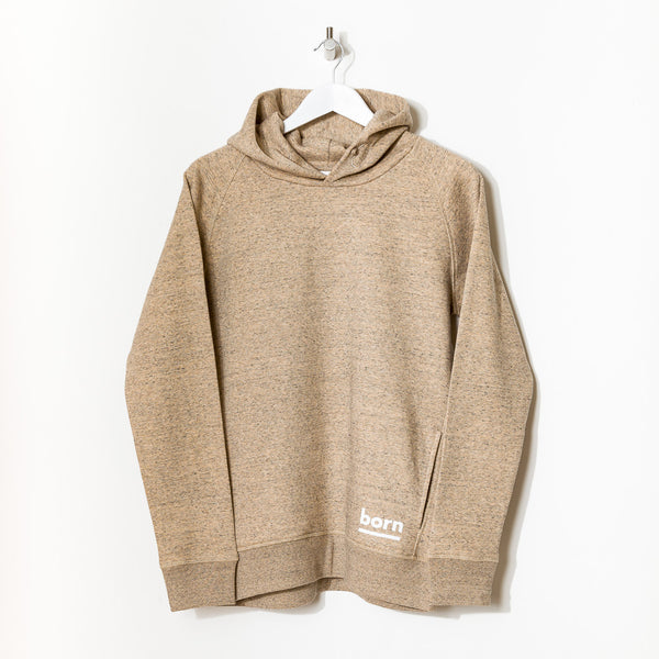 Born Essentials Organic Cotton Hooded Sweat - Heather Clay - Born Store