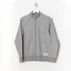 Born Essentials Organic Cotton Zip Sweat Mock -  Heather Grey
