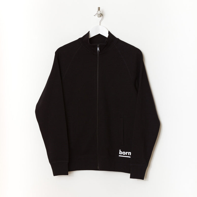 Born Essentials Organic Cotton Zip Sweat Mock -  Black - Born Store