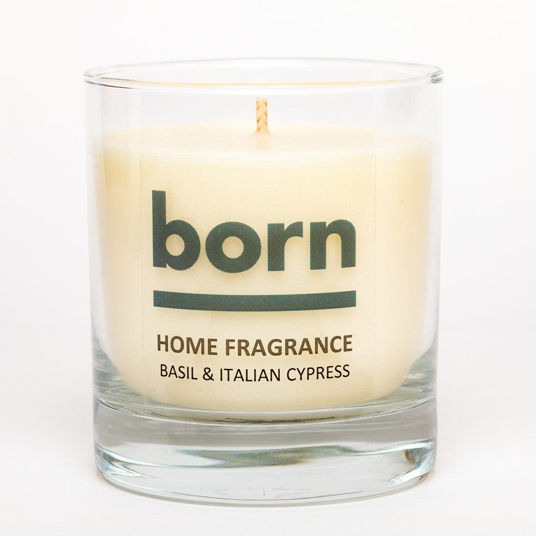 Born Candles - Basil and Italian Cypress